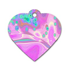 Lights Dog Tag Heart (two Sides) by ValentinaDesign