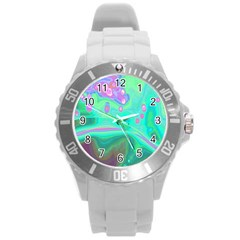 Lights Round Plastic Sport Watch (l) by ValentinaDesign