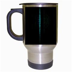 Lights Travel Mug (silver Gray) by ValentinaDesign