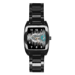 Light Stainless Steel Barrel Watch by ValentinaDesign