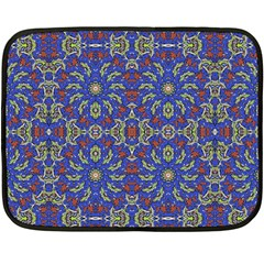 Colorful Ethnic Design Fleece Blanket (mini) by dflcprints