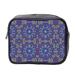 Colorful Ethnic Design Mini Toiletries Bag 2 Side by dflcprints