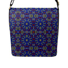 Colorful Ethnic Design Flap Messenger Bag (l)  by dflcprints
