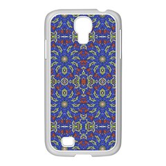 Colorful Ethnic Design Samsung Galaxy S4 I9500/ I9505 Case (white) by dflcprints
