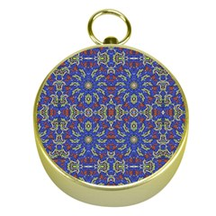 Colorful Ethnic Design Gold Compasses by dflcprints
