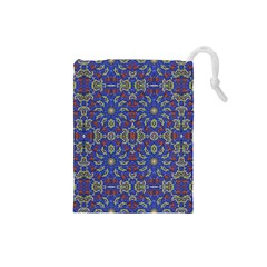 Colorful Ethnic Design Drawstring Pouches (small)  by dflcprints