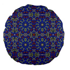 Colorful Ethnic Design Large 18  Premium Flano Round Cushions by dflcprints