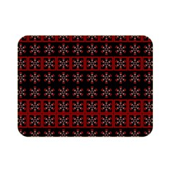 Dark Tiled Pattern Double Sided Flano Blanket (mini)  by linceazul