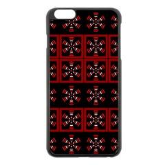 Dark Tiled Pattern Apple Iphone 6 Plus/6s Plus Black Enamel Case by linceazul