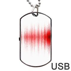 Light Dog Tag Usb Flash (one Side) by ValentinaDesign
