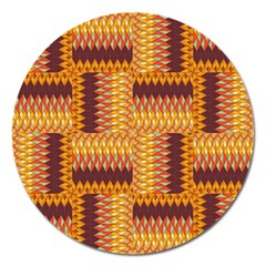 Geometric Pattern Magnet 5  (round) by linceazul