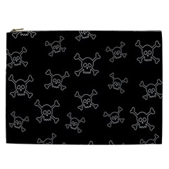 Skull Pattern Cosmetic Bag (xxl)  by ValentinaDesign