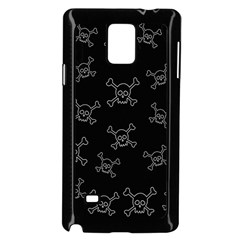 Skull Pattern Samsung Galaxy Note 4 Case (black) by ValentinaDesign