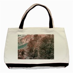 Gravel Empty Road Parque Nacional Los Glaciares Patagonia Argentina Basic Tote Bag (two Sides) by dflcprints