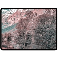 Gravel Empty Road Parque Nacional Los Glaciares Patagonia Argentina Double Sided Fleece Blanket (large)  by dflcprints
