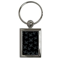 Skull Pattern Key Chains (rectangle)  by ValentinaDesign