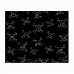 Skull Pattern Small Glasses Cloth by ValentinaDesign