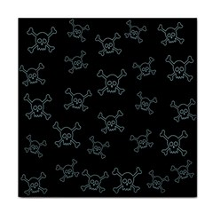 Skull Pattern Face Towel by ValentinaDesign