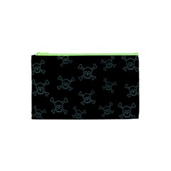 Skull Pattern Cosmetic Bag (xs) by ValentinaDesign