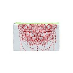 Mandala Pretty Design Pattern Cosmetic Bag (xs) by Nexatart