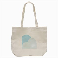 Cloud Sky Blue Decorative Symbol Tote Bag (cream) by Nexatart