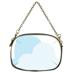 Cloud Sky Blue Decorative Symbol Chain Purses (two Sides)  by Nexatart