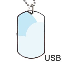 Cloud Sky Blue Decorative Symbol Dog Tag Usb Flash (two Sides) by Nexatart
