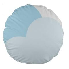Cloud Sky Blue Decorative Symbol Large 18  Premium Round Cushions by Nexatart