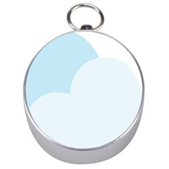 Cloud Sky Blue Decorative Symbol Silver Compasses by Nexatart