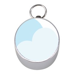 Cloud Sky Blue Decorative Symbol Mini Silver Compasses by Nexatart