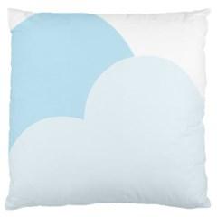 Cloud Sky Blue Decorative Symbol Large Flano Cushion Case (one Side) by Nexatart