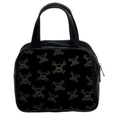 Skull Pattern Classic Handbags (2 Sides) by ValentinaDesign