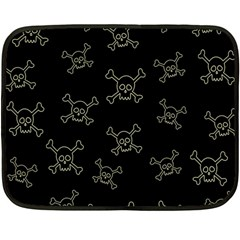 Skull Pattern Fleece Blanket (mini) by ValentinaDesign
