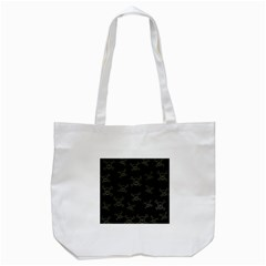 Skull Pattern Tote Bag (white) by ValentinaDesign