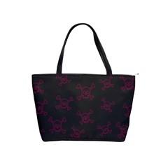 Skull Pattern Shoulder Handbags by ValentinaDesign