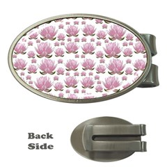 Lotus Money Clips (oval)  by ValentinaDesign