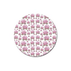 Lotus Magnet 3  (round) by ValentinaDesign