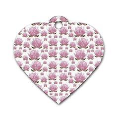 Lotus Dog Tag Heart (two Sides) by ValentinaDesign