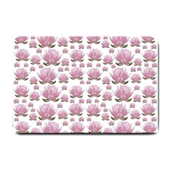 Lotus Small Doormat  by ValentinaDesign