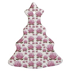 Lotus Christmas Tree Ornament (two Sides) by ValentinaDesign