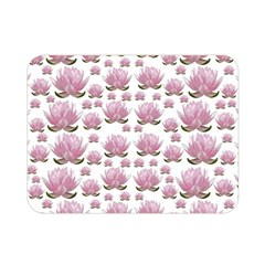 Lotus Double Sided Flano Blanket (mini)  by ValentinaDesign