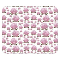 Lotus Double Sided Flano Blanket (small)  by ValentinaDesign