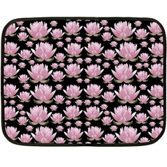 Lotus Fleece Blanket (mini) by ValentinaDesign