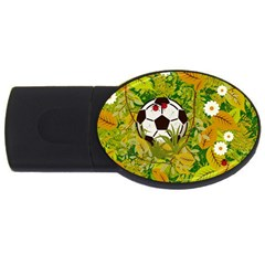 Ball On Forest Floor Usb Flash Drive Oval (2 Gb) by linceazul