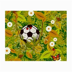 Ball On Forest Floor Small Glasses Cloth (2 Side) by linceazul