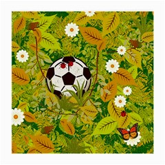 Ball On Forest Floor Medium Glasses Cloth (2 Side) by linceazul