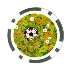 Ball On Forest Floor Poker Chip Card Guard by linceazul