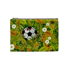 Ball On Forest Floor Cosmetic Bag (medium)  by linceazul