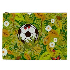 Ball On Forest Floor Cosmetic Bag (xxl)  by linceazul