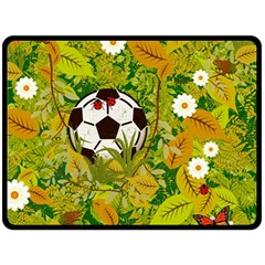 Ball On Forest Floor Double Sided Fleece Blanket (large)  by linceazul